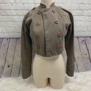 EDUN Crop Military Jacket S